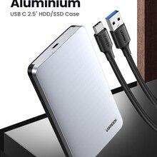 Ugreen HDD чехол 2,5 6 Гбит/с SATA к USB C 3,1 Gen 2 внешний жесткий диск коробка алюминиевый чехол HD для Sata жесткий диск Корпус SSD, HDD
