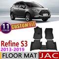Кожаные автомобильные коврики на заказ для JAC Refine S3 5 мест 2013 ~ 2019 T50 T5 авто коврик для ног Аксессуары для ковров 2014 2015 2016