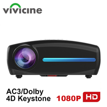 Vivicine S2 Newest 1080p Projector,Option Android 9.0 HDMI USB PC 1920x1080 Full