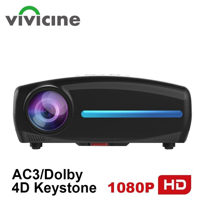 Vivicine S2 más 1080p opción Android 9,0 HDMI USB PC 1920x1080 completa del teatro casero LED HD Video Proyector
