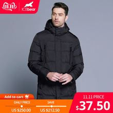 Icebear Winter Jacket Outerwear Long-Coat Men Parka Warm Thick Men's Windproof Casual