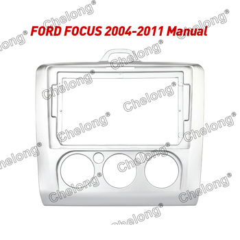 2Din Car Dashboard Frame Fit For Ford Focus 2004-2011 Car DVD GPS Dash Panel Kit Mounting Frame Trim Frame Fascias image