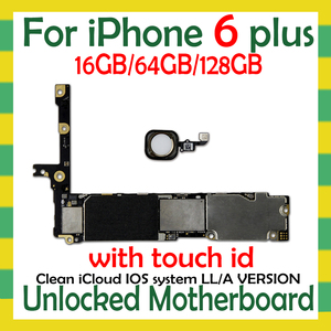 Image 1 - Factory unlocked for iphone 6 Plus 5.5inch Motherboard with/NO Touch ID,Original for iphone 6Plus Logic board with Free iCloud