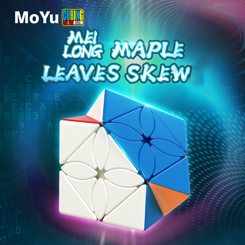 2019 Newest MoYu Meilong Maple Leaves Skew Magic Cube Puzzle Cube Professional Speed Cubo Magico Educational Toys For Students
