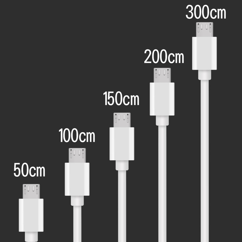 Micro/Type C/8 Pin USB Cable Fast Charging Cable 0.5m 2m 3m USB C Quick Charge 3.0 Charger Phone Cable For IPhone Samsung Huawei