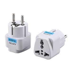 Universal EU Plug Adapter International AU UK US To EU Euro Travel Adapter Electrical Plug Converter Power Socket 250V 10A 800W