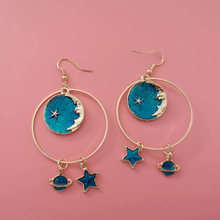 Charm Fashion Women Earrings Planet Star Moon Drop Dangle Hook Earrings Fashion Elegant Jewelry Gift Party Banquet Accessories(China)