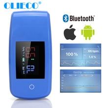 OLIECO палец Bluetooth приложение Пульсоксиметр мини палец SPO2 PR Oximetro бытовой цифровой измеритель насыщения кислорода портативный