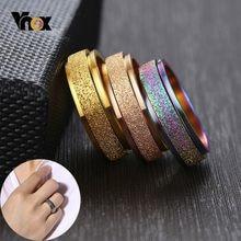 Vnox – bague rotative anti-Stress pour homme et femme, anneau en acier inoxydable, 6mm