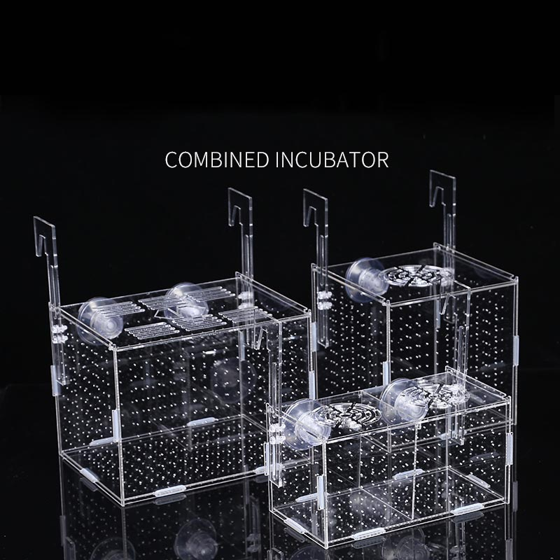 Fish Tank Aquarium Box Small Fish Isolation Net Tropical Fish Breeding Box Production Box Acrylic Aquarium Supplies 30X20X20CM