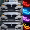 FORAUTO 4 قطعة عيون الملاك سيارة RGB متعدد الألوان SMD LED Cob العلوي M4 نمط بلوتوث + وحدة تحكم لاسلكية عن بعد لسيارات BMW