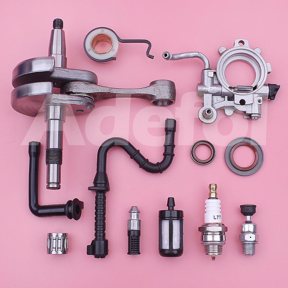 Tools : Crankshaft w Bearing Oil Pump Seal Line Filter Worm Gear Kit For Stihl 044 MS440 Chainsaw Parts 1128 030 0406 9640 003 1972