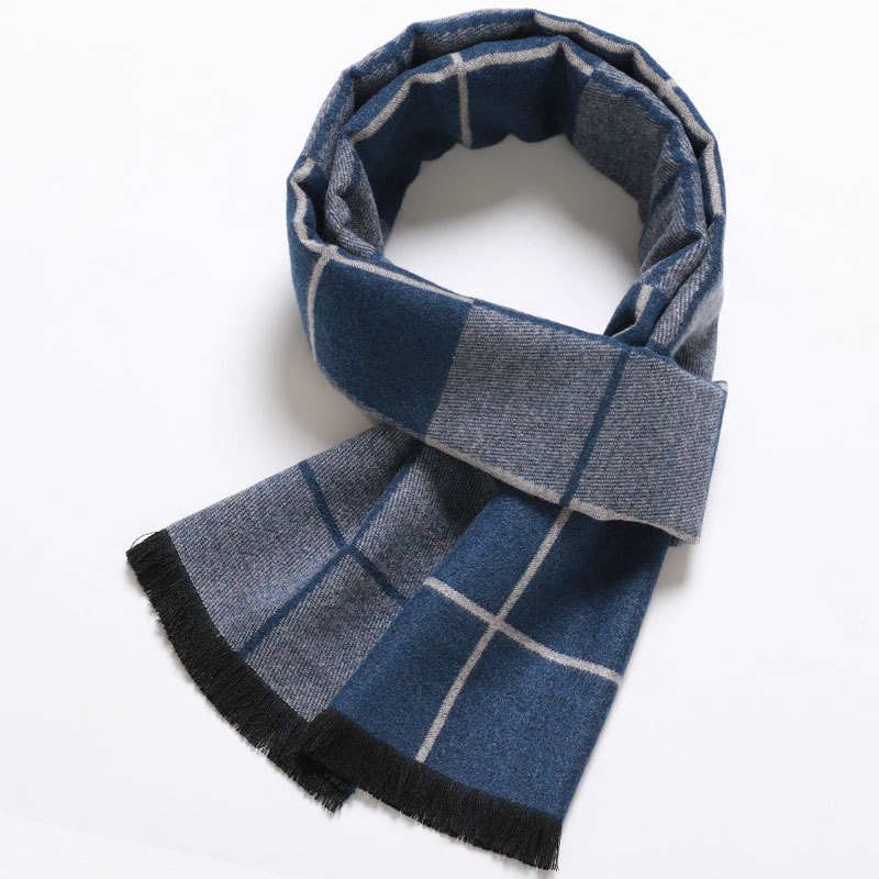 2020 Luxury Design Men Scarf Cashmere Foulard Plaid Striped Scarves Casual Bussiness Winter Scarfs Male Bufandas Hombre S030