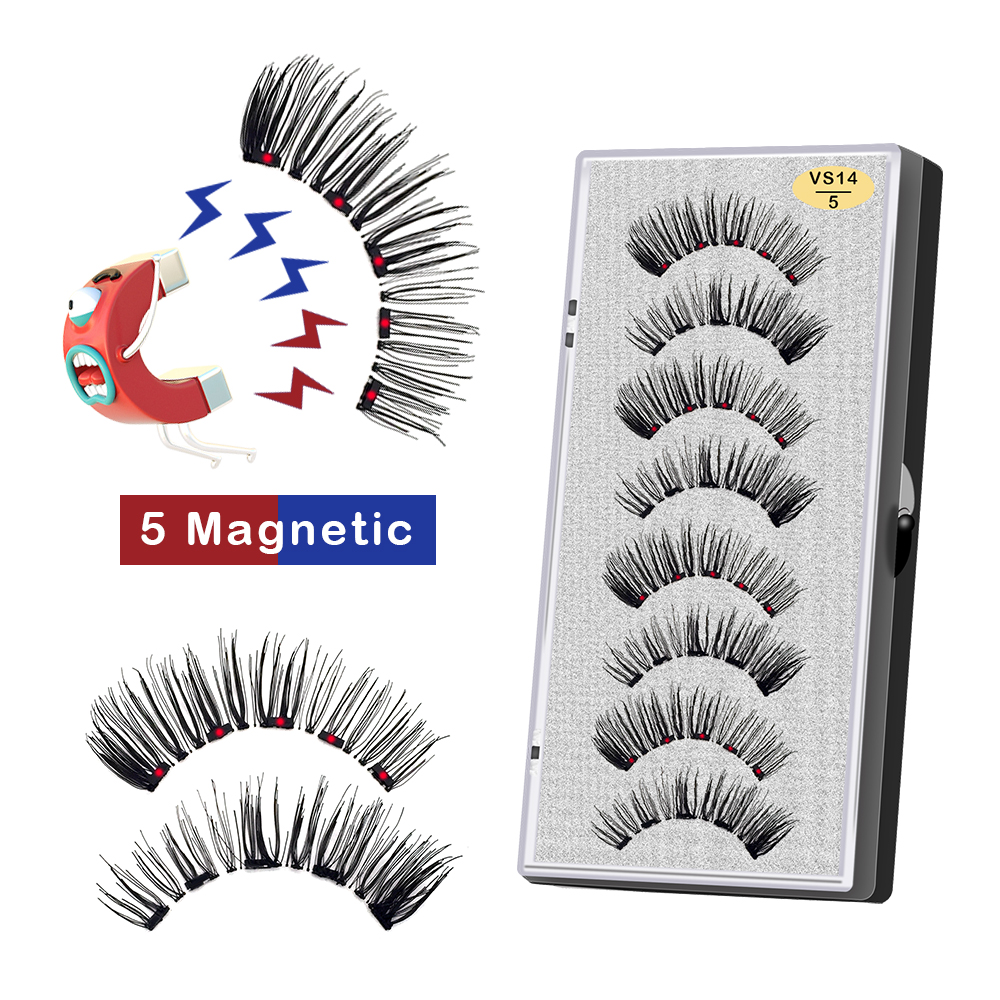 Cílios postiços magnéticos 3d visíveis de 5