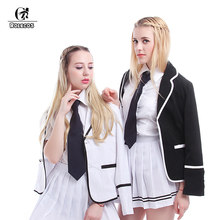 ROLECOS Long Sleeve Women Office Work Jacket Casual Costume Jacket Outwear Female Business Lady Coat Japanese School Girl Coat(China)