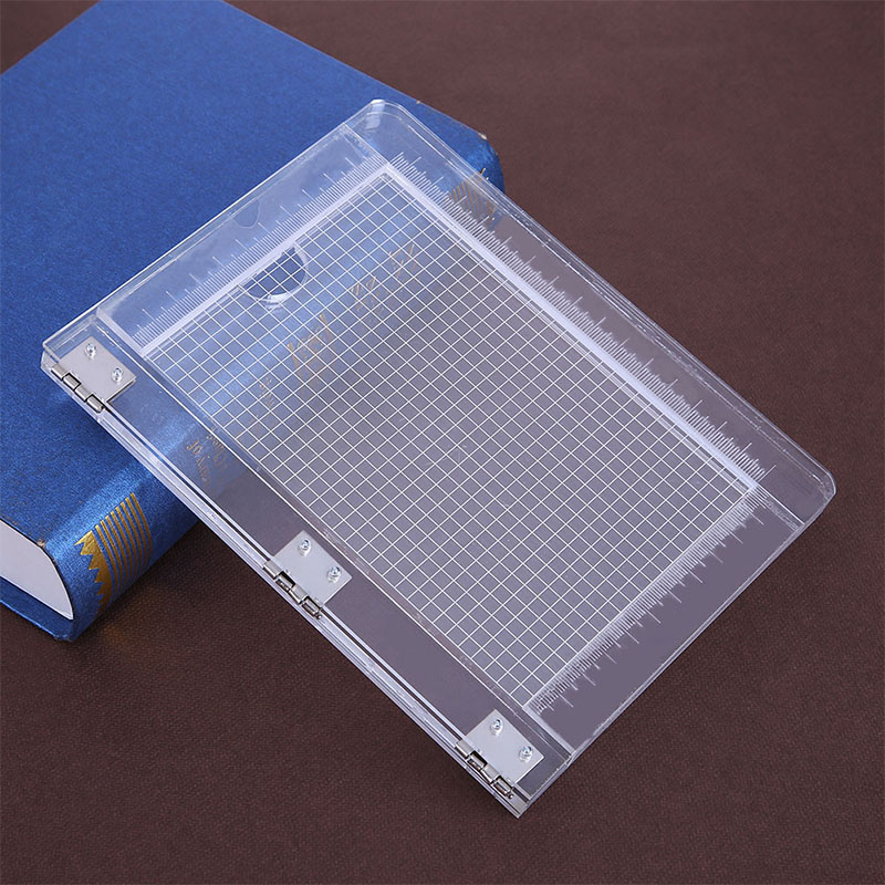 2 Size Clear Acrylic Perfect Positioning Stamping Block Mounting Clear Stamps Scrapbook Craft Stamp Folding Plate Tools