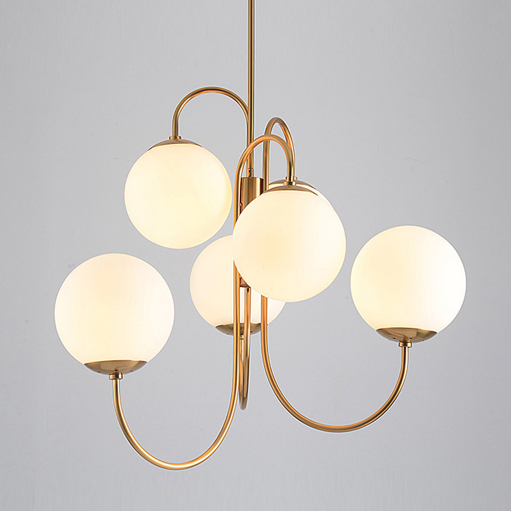 White Glass Pendant Light Loft Hanging Pendant Lamp Fixtures E27/E26 LED Hang Lights For Kitchen Restaurant Bar Lighting