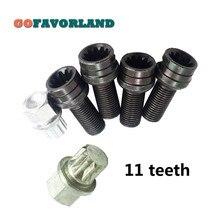 x5 Set Anti-theft Wheel Screw Bolt Lock Nut Key Adapter 8D0601139F 001 11 teeth For VW Golf Jetta Passat Audi A4 A6 A8 TT