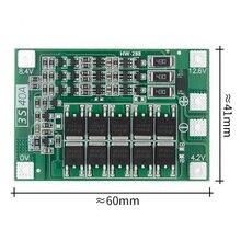40A 현재 드릴 모터 11.1V 12.6V Lipo 셀 모듈에 대 한 10 PCS 3S 40A 리튬 이온 리튬 배터리 충전기 보호 보드 PCB BMS