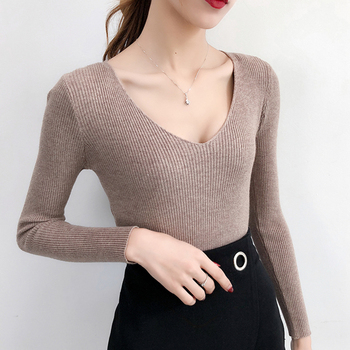 Women Sweaters And Pullovers Autumn Winter Knitted Warm Women Jumper Slim Stretch Sweater Female Pink Pull Femme Women Outerwear & Accessories