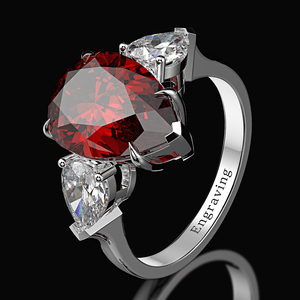 Image 3 - Wong Regen 100% 925 Sterling Silber Birne Erstellt Moissanite Aquamarin Edelstein Hochzeit Engagement Ring Edlen Schmuck Großhandel