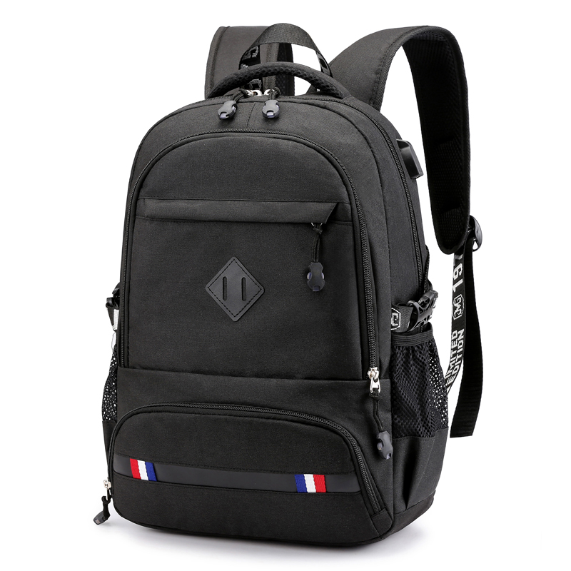 Casual  USB Charging Men Backpack Oxford Preppy Middle School Student School Bag For Teenagers Back Pack Large Capacity Bagpack