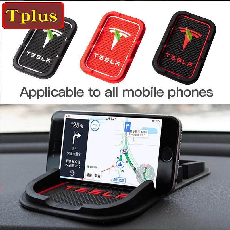 Tesla Car Dashboard Non Slip Grip Pad For Tesla Model Y 3 S X Accessories Phone Holder Mat Anti-skid Slip Model3 Phone Fixed Pad
