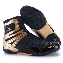 Professional high-top Sanda boxing wrestling shoes soft-soled shoes weightlifting gym professional training sports fighting shoe