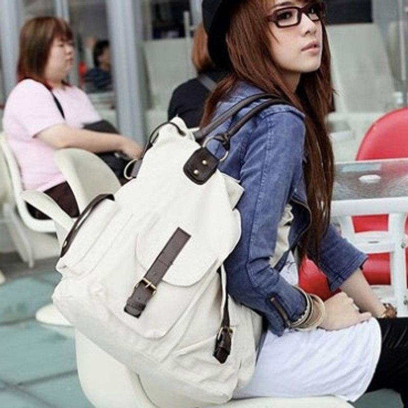 Image 4 - Bolsas Feminina 대용량 포켓 캐주얼 토트 여성 핸드백 숄더 백 캔버스 가죽 용량 여성용 비치 가방 2019숄더 백수화물 & 가방 -