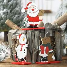 Buy Christmas Santa Claus Desktop Decor Xmas Wooden Snowman Elk Home Party Decor Ornament Home Decoration Accessories DekorasyonCM directly from merchant!