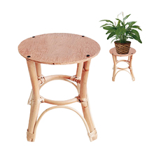 Gardening Nordic Simple Wooden Rattan Flower Stand Plant Strong And Sturdy Holder Home Decor gaudily