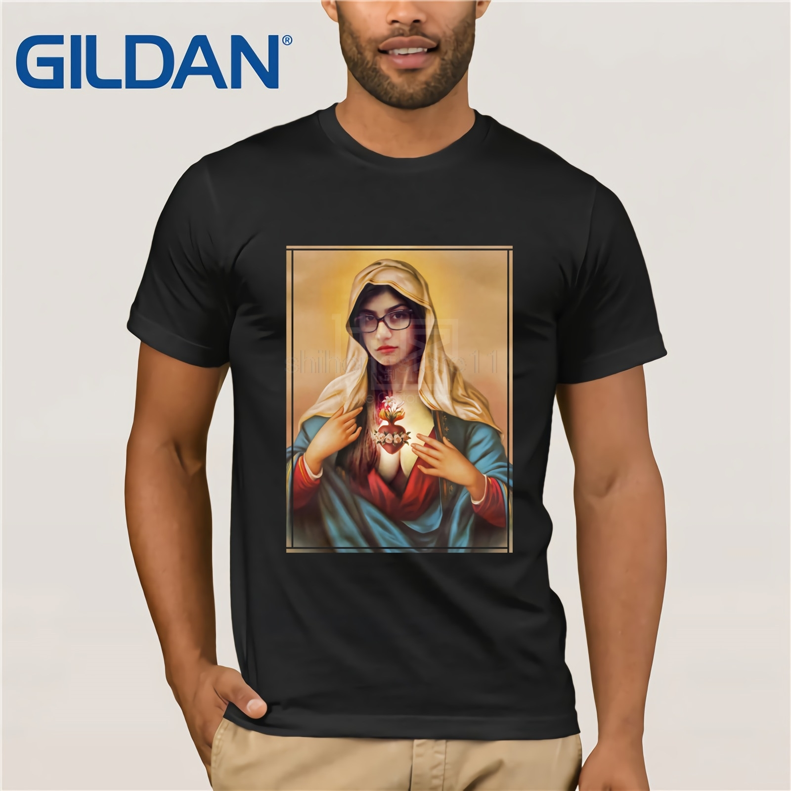 2019 New Summer T-shirt Virgin Mia Khalifa T-Shirt Creative Harajuku Hip Hop Funny Sexy Tee T-shirt