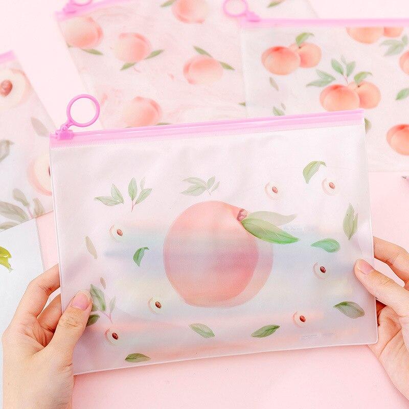 10 Pcs High Quality New File Holder Transparent PVC Pouch Zipper Filing Organizer Waterproof Bags