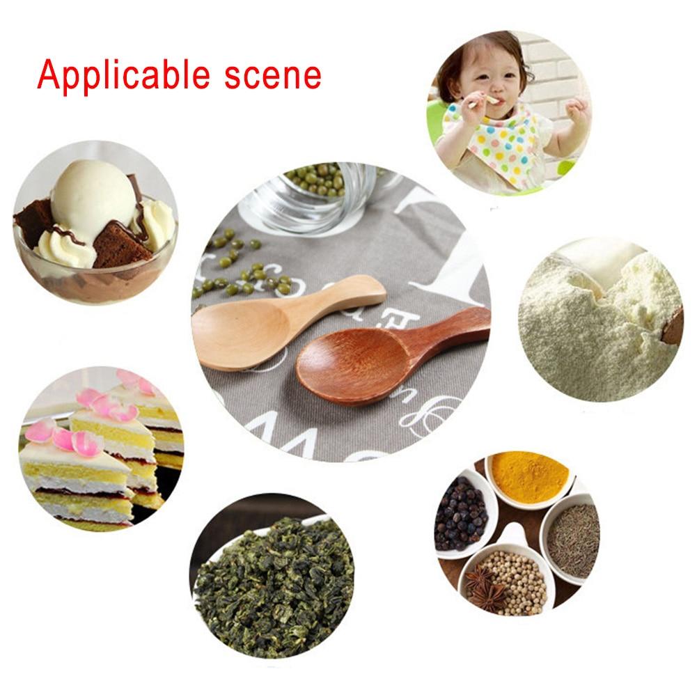 Exquisite Life Natural Wooden Small Spoon Scoop Tea Honey Coffee Condiment Salt Sugar Spoon Baby Feeding Tableware#0304