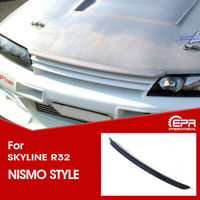 Car accessories Carbon Fiber Glossy Finished Bonnet Hood Lip Exterior Body kit For Nissan Skyline R32 GTS GTR Nis Style