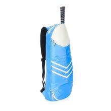 Большая спортивная сумка для ракетки, сумка для бадминтона, водонепроницаемая многослойная Теннисная ракетка, лавсановая сумка на плечо