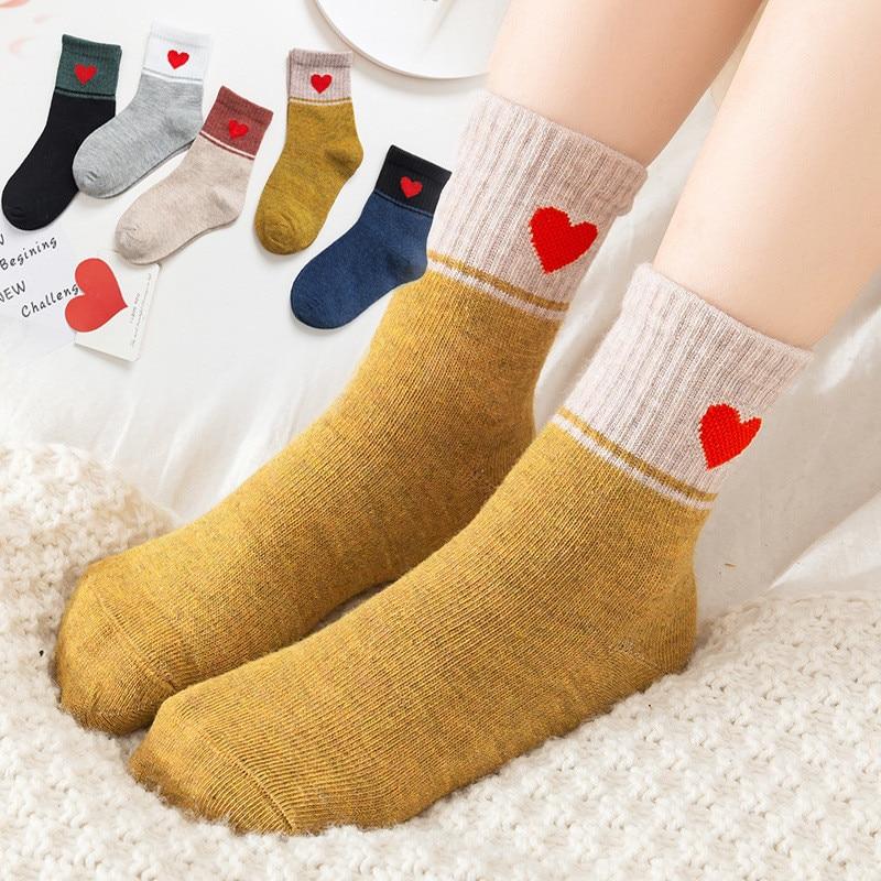1 Pair Girls Cartoon Socks Toddler Boys Soft Breathable Cotton Socks Children Autumn Winter Warm Socks For 3-8Y Skarpetki