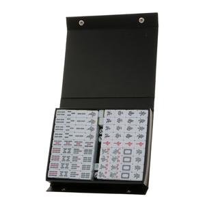 Image 3 - 1 Set Van Chinese Traditionele Mahjong Board Game Verzamelen Party Fun Speelgoed Lichtgroen