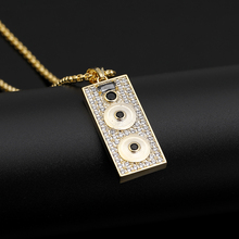 Hot Selling Fashion Popular Rap Street Box Player Creative Hiphop Necklace Iced Cubic Zircon Mens Hip Hop Jewelry