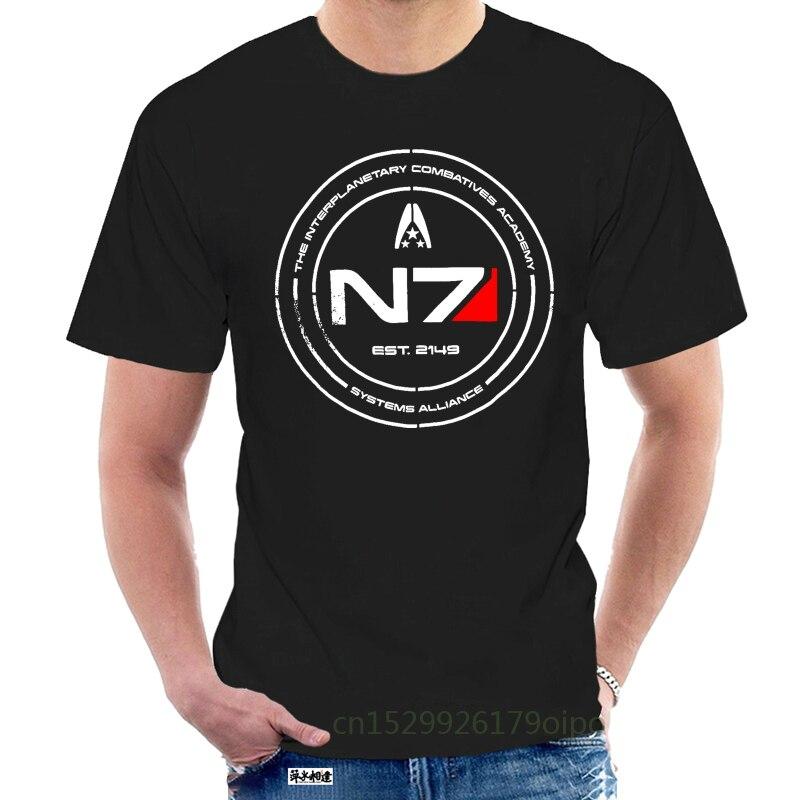 Cheap Pricing Men Mass Effect N7 Cadet T Shirt Tees Shirt Short Sleeve Custom Designer Teenagers Big Tall Size Tee @075108