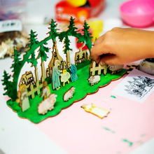 DIY Wooden Kids Hand-on toys Christmas gift facade decorations for home Snowman story Xmas tree New Year 2020 navidad