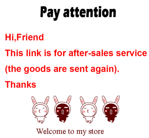 Your Good Friend. This Link Is For After-sales Service (sending The Goods Again)