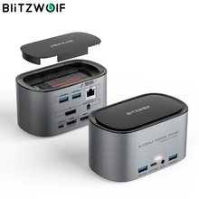 Usb-Hub Enclosure Docking-Station SSD Multiple-Port BW-TH12 Sata-3.0 RJ45 Blitzwolf 14-In-1