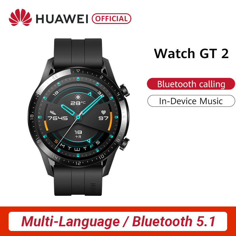 Original HUAWEI Watch GT 2 GT2 GPS 14 Days Working Waterproof Phone Smart Call Heart Rate Tracker For Android IOS