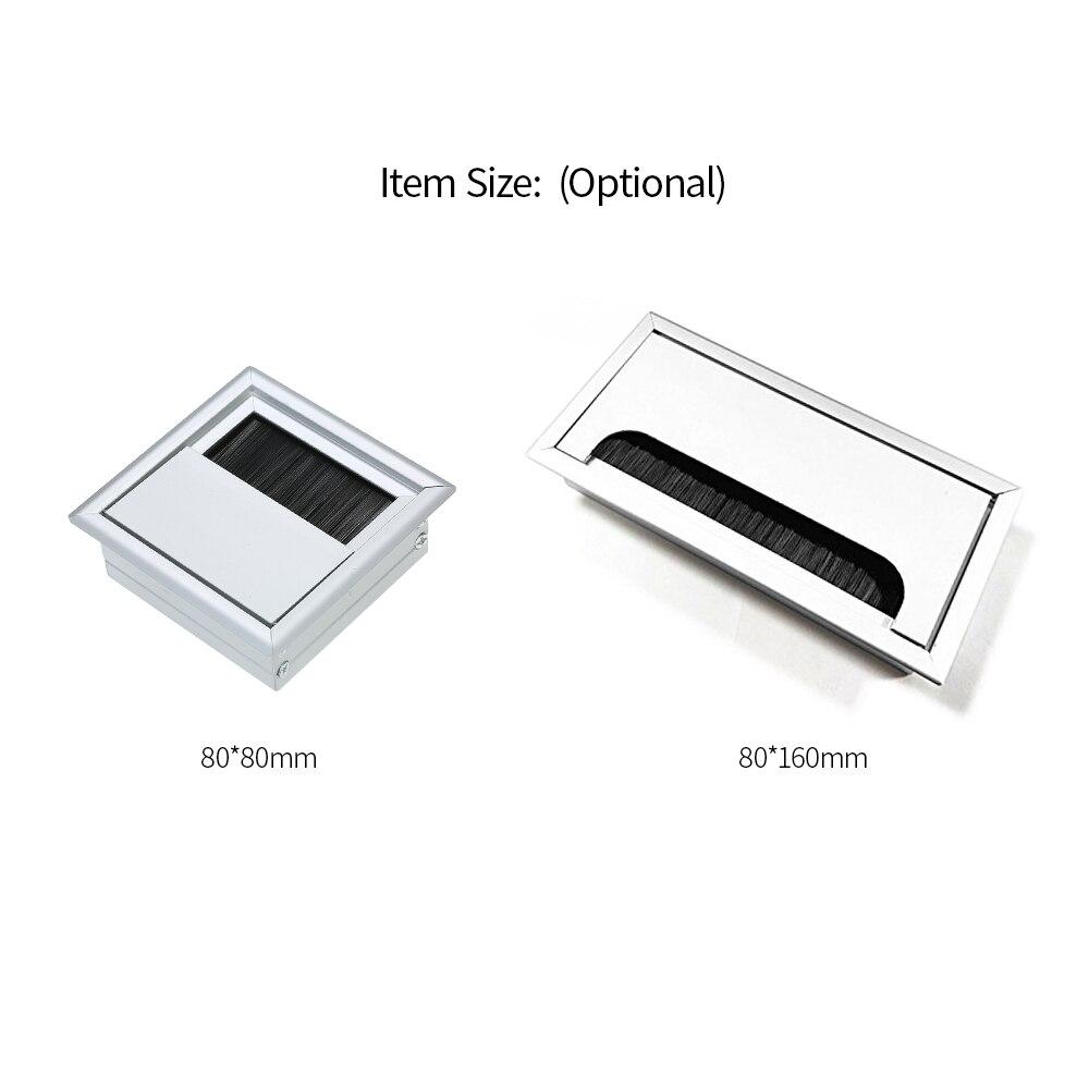 Desk Grommet For Wire Organizer Office Desktop Gromet Aluminum Alloy Wire Cable Hole Cover Grommet Flexible Desk Grommet
