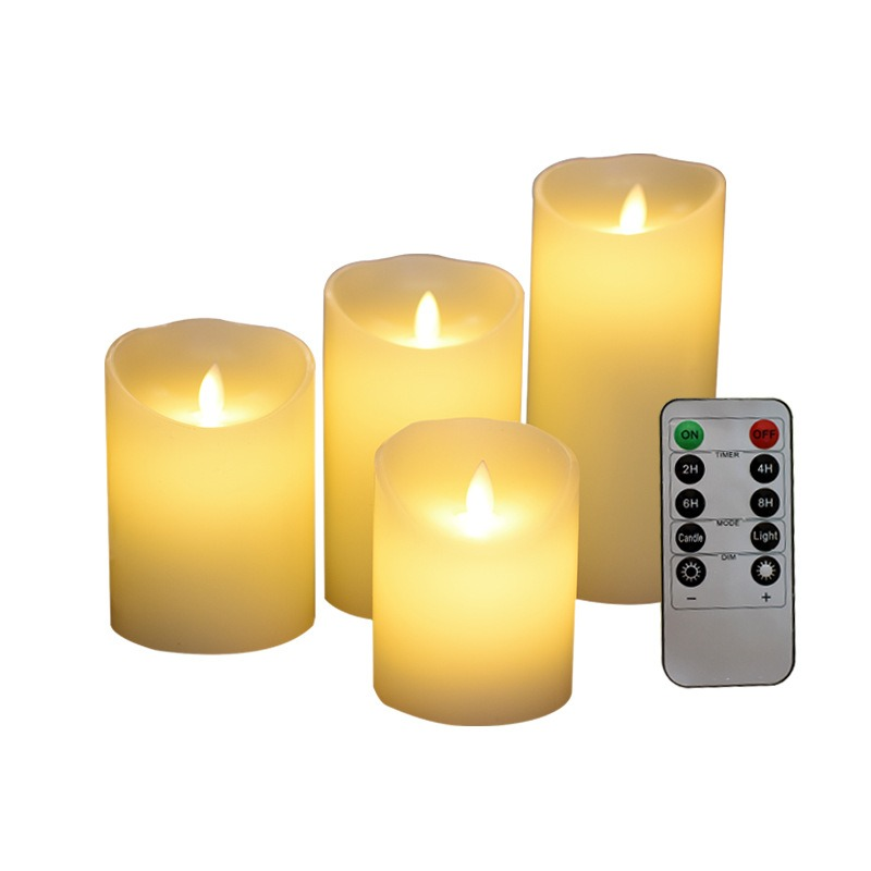 Candles LED Flameless Candle Light With Timer Remote Control Smooth Flicker Candle Light Battery Operated For Home Wedding Decor