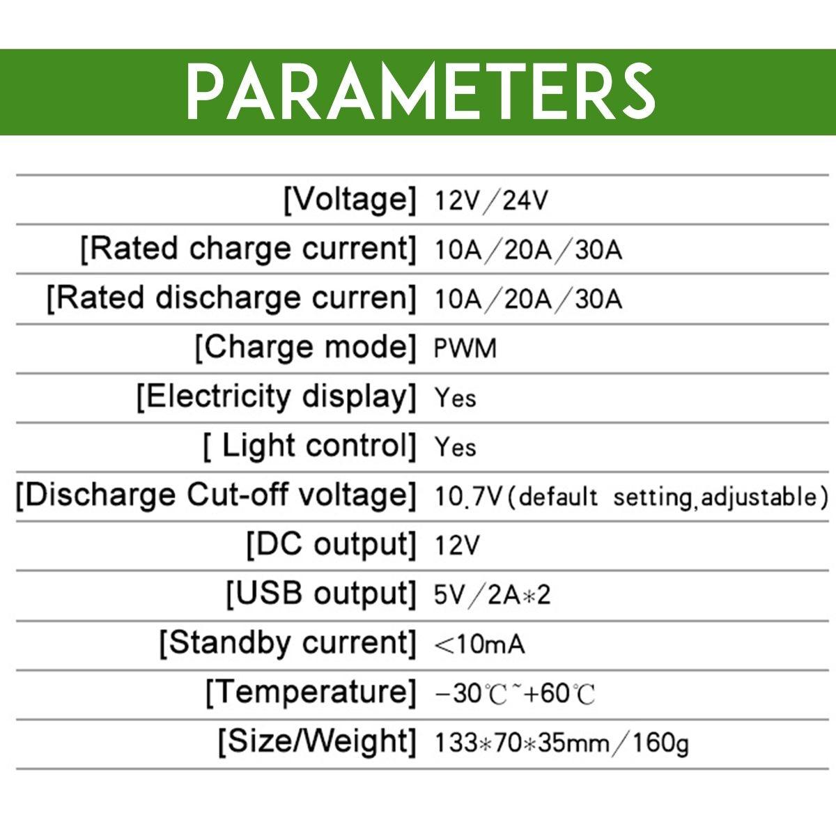 10a 12v 24v controlador de carga solar 04