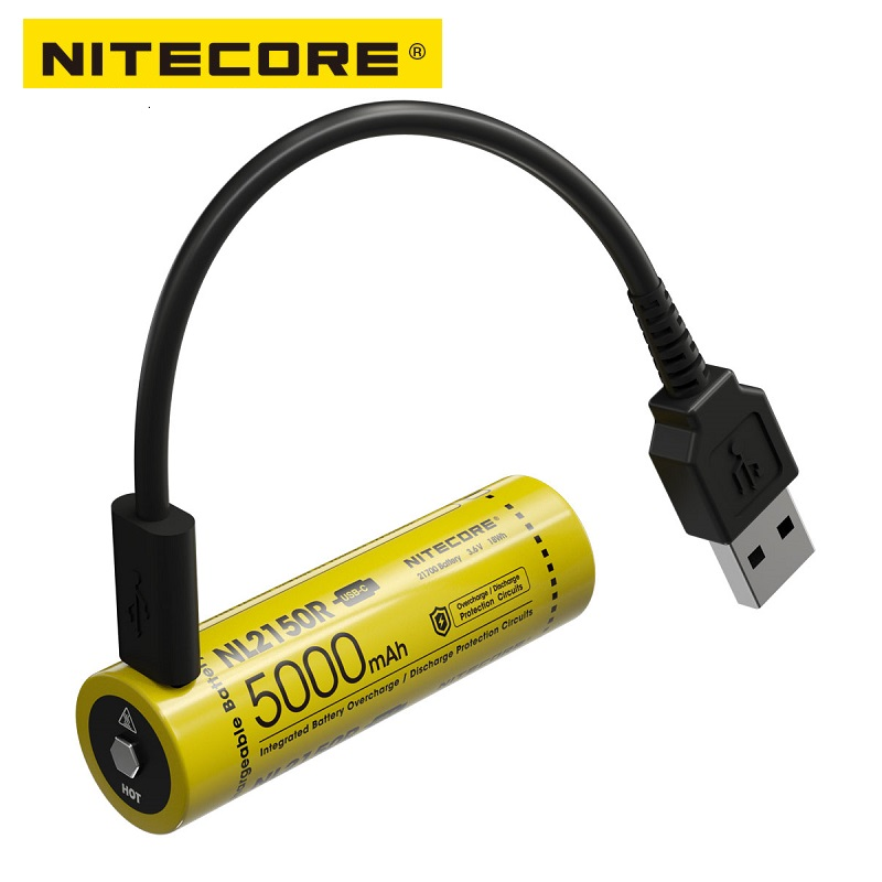 NITECORE NL2150R 5000mAh USB-C Rechargeable 21700 Battery