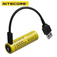 NITECORE NL2150R 5000mAh USB-C batería recargable 21700