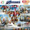 Kids Toys Marvel Iron Man Mecha Lab Building Blocks Figures Bricks Mini Doll Educational Toys For Children Birthday Gifts